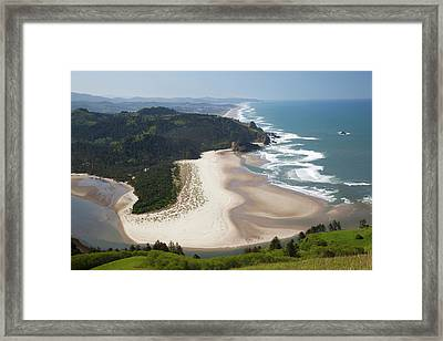 Or, Cascade Head, View Of Beach Framed Print by Jamie and Judy Wild