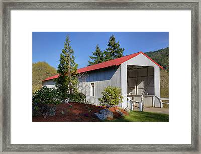 Or, Douglas County, Milo Academy Framed Print