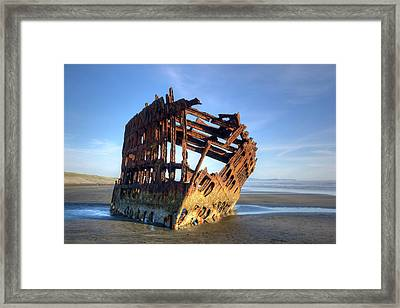 Or, Fort Stevens State Park, Wreck Framed Print by Jamie and Judy Wild