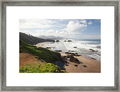 Or, Oregon Coast, Ecola State Park Framed Print by Jamie and Judy Wild