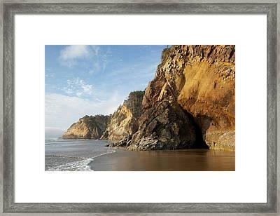 Or, Oregon Coast, Hug Point Framed Print