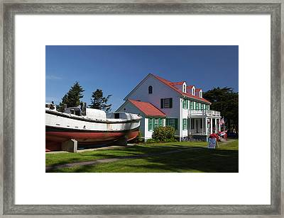 Or, Winchester Bay, Umpqua River Framed Print by Jamie and Judy Wild