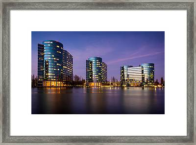 Oracle Campus In Silicon Valley Framed Print by Alexis Birkill