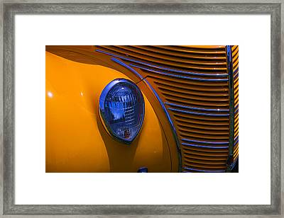 Orange 1938 Ford Coupe Framed Print by Garry Gay