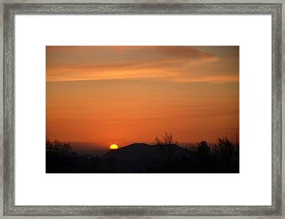 Orange-3 Framed Print