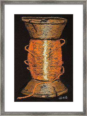 Framed Print featuring the drawing Orange 6 by Joseph Hawkins