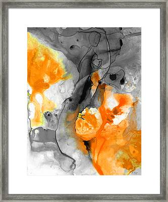 Orange Abstract Art - Iced Tangerine - By Sharon Cummings Framed Print