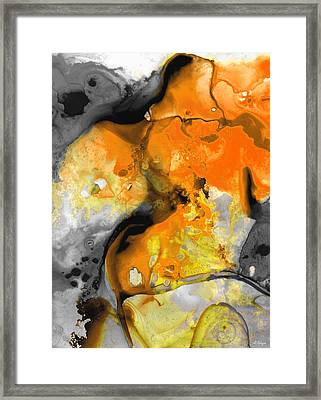 Orange Abstract Art - Light Walk - By Sharon Cummings Framed Print by Sharon Cummings