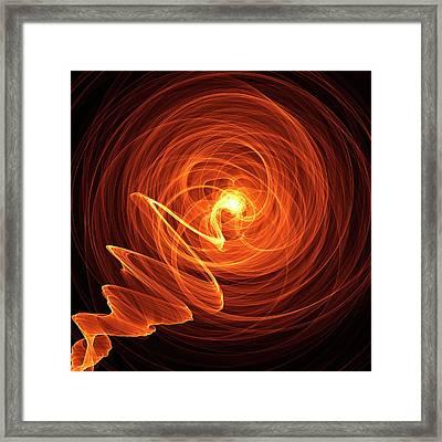 Orange Abstract Patterns Framed Print