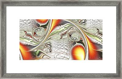 Orange Accent Framed Print by Anastasiya Malakhova
