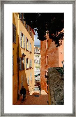 Orange Alley Framed Print