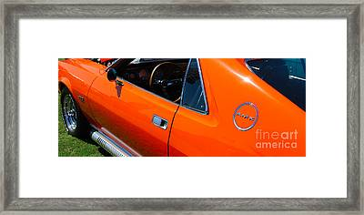 Orange Amx Framed Print