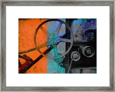 Orange And Blue  Framed Print by Ann Powell