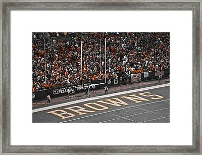 Orange And Brown Framed Print by Frozen in Time Fine Art Photography