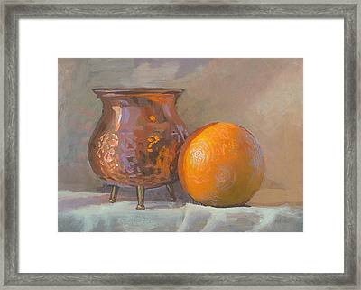 Orange And Copper Framed Print by Peter Orrock