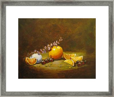 Orange And Egg Framed Print