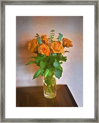 Framed Print featuring the photograph Orange And Green by John Hansen