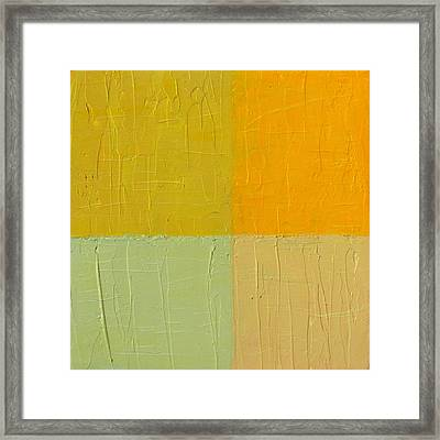 Orange And Mint Framed Print by Michelle Calkins