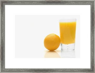 Orange And Orange Juice Framed Print by Darren Greenwood