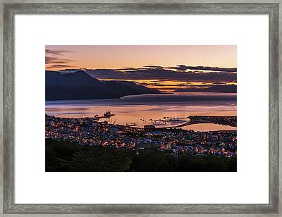 Orange And Purple Pre-dawn Light Framed Print by Nick Dale