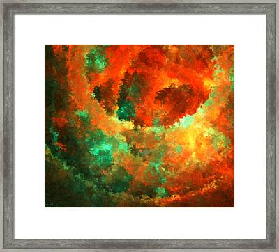 Orange And The Green Framed Print