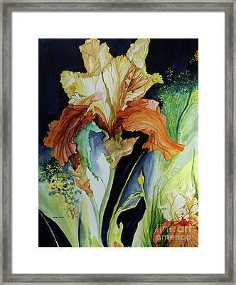 Orange And Yellow Iris Framed Print