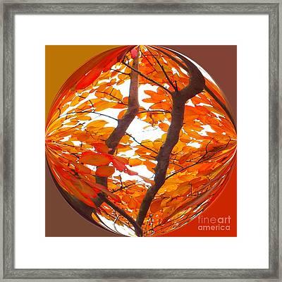 Orange Art Deco Framed Print by Scott Cameron