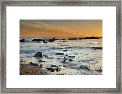 Orange At Sunset Framed Print by Guido Montanes Castillo