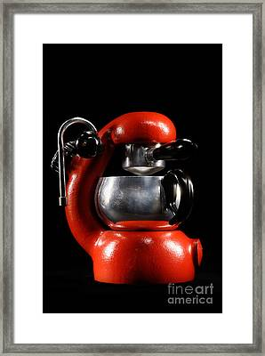 Orange Atomic 2 Framed Print