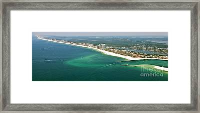 Looking Ne Across Perdio Pass To Gulf Shores Framed Print