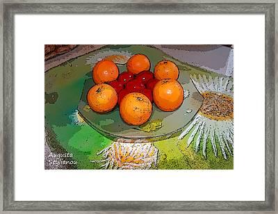 Orange Beauty Framed Print by Augusta Stylianou