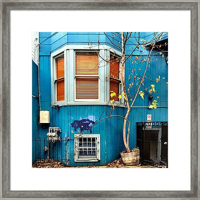 Orange Blinds Framed Print