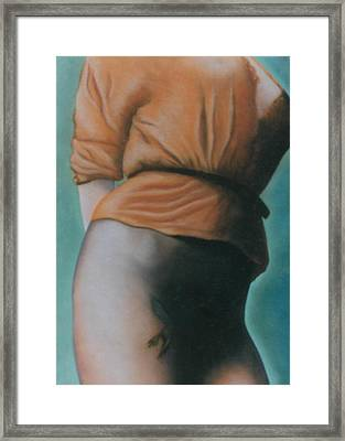 Orange Blouse Framed Print