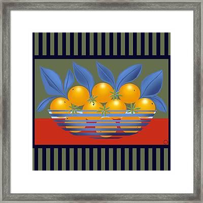 Orange Bowl Framed Print