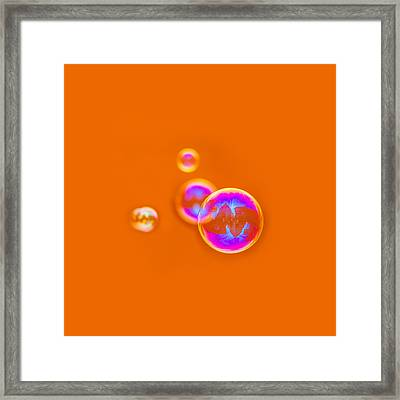 Orange Bubbles - Featured 3 Framed Print by Alexander Senin