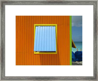 Orange Cabin Framed Print