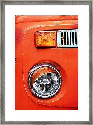 Orange Camper Van Framed Print by Mark Rogan