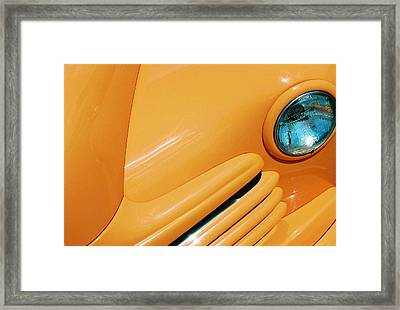 Orange Car Framed Print