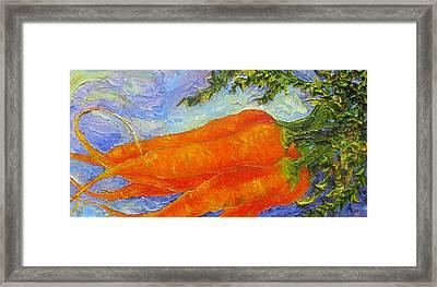 Orange Carrots Framed Print by Paris Wyatt Llanso