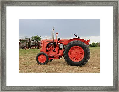 Orange Case Tractor Framed Print