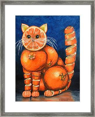 Orange Cat Framed Print by Jane Loveall