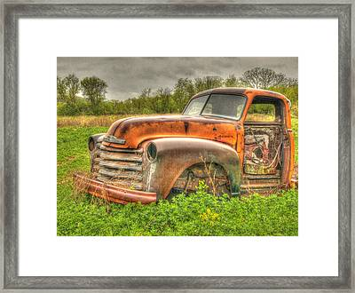 Orange Chevy Framed Print by Thomas Young