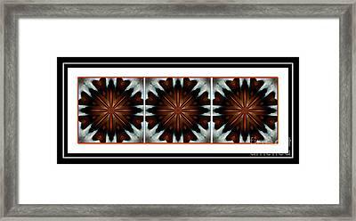 Orange Chocolate Trio - Kaleidoscope - Triptych Framed Print by Barbara Griffin