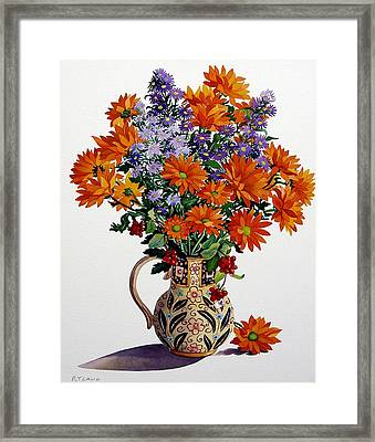 Orange Chrysanthemums Framed Print by Christopher Ryland