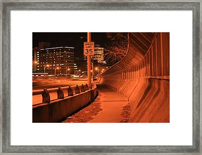 Orange City 2 Framed Print by Derek Woodley