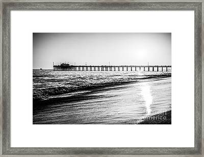 Orange County California Picture Of Balboa Pier  Framed Print by Paul Velgos