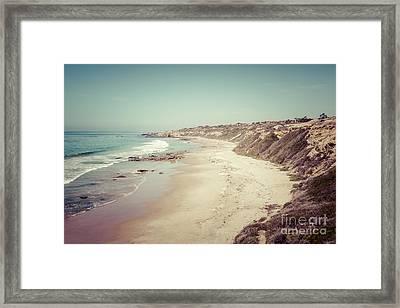 Orange County California Retro Photo Framed Print by Paul Velgos