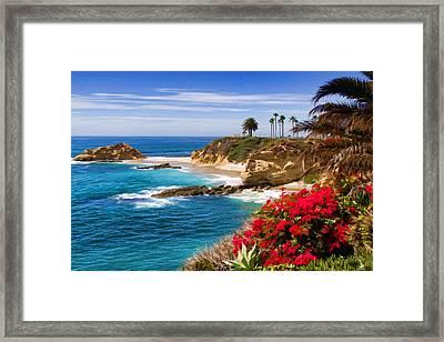 Orange County Coastline Framed Print