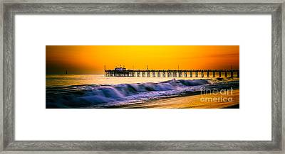 Orange County Panoramic Sunset Picture Framed Print by Paul Velgos