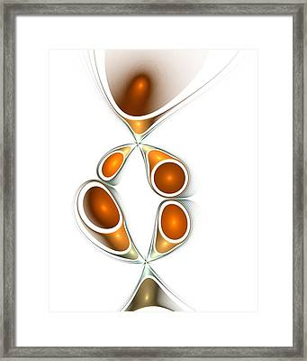 Orange Creation Framed Print by Anastasiya Malakhova